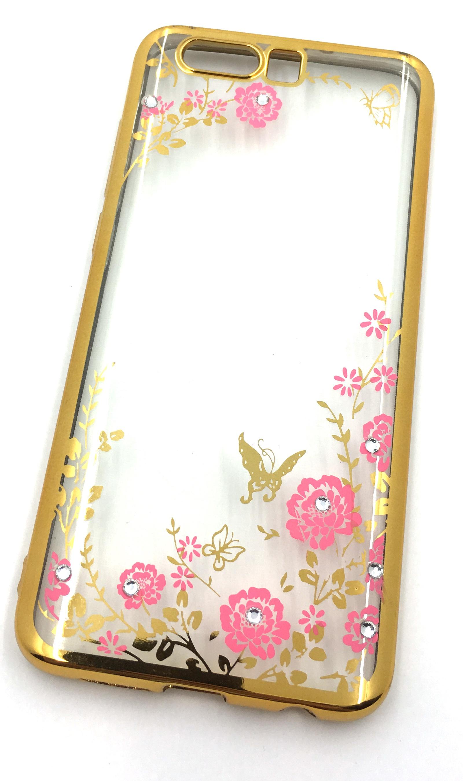 Чехол для сотового телефона Мобильная мода Huawei Honor 9 Силиконовая, прозрачная накладка со стразами, 6 984G, золотой чехол для сотового телефона мобильная мода meizu pro 6 силиконовая прозрачная накладка со стразами 6371g золотой