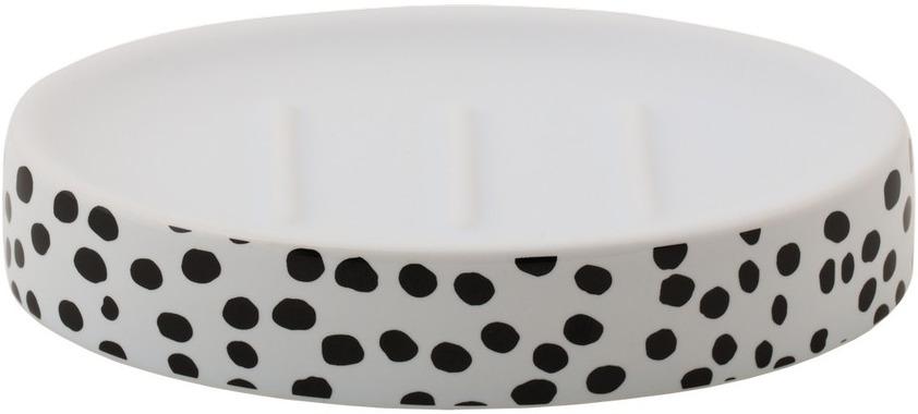 Мыльница Swensa Spots, SWTK-1056D, серый металлик zen мыльница керамика