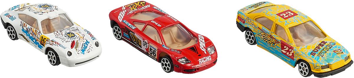 Набор гоночных машин Pioneer Toys Street Machine, PT2007, белый, красный, желтый pioneer toys машинка street machine sport цвет красный