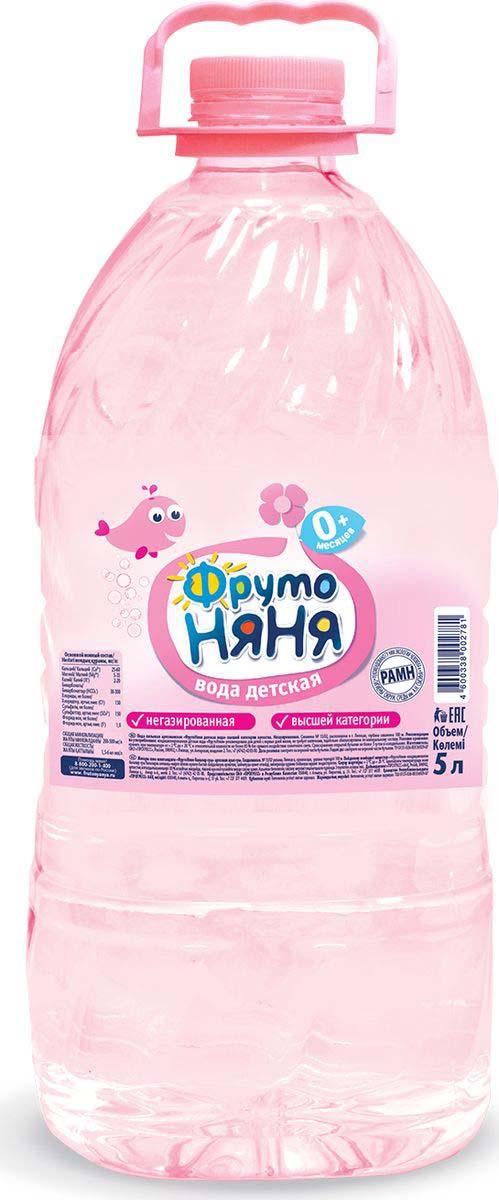 ФрутоНяня водаартезианская питьевая негазированная, 5 л вода фрутоняня детская питьевая артезианская негазированная