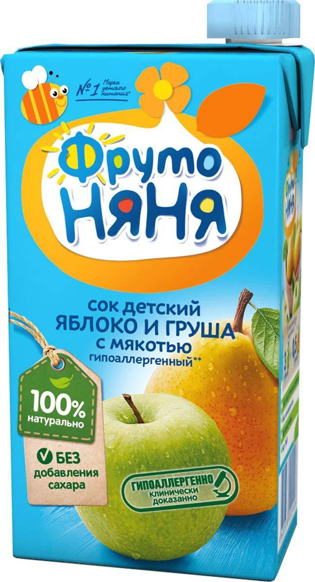 Фото - ФрутоНяня сок из яблок и груш, 0,5 л фрутоняня сок из яблок 0 5 л