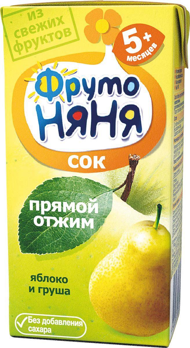 Фото - ФрутоНяня сок из яблок и груш прямого отжима с 5 месяцев, 0,2 л фрутоняня сок из яблок 0 5 л