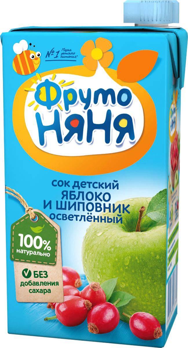 Фото - ФрутоНяня сок из яблок и шиповника, 0,5 л фрутоняня сок из яблок 0 5 л