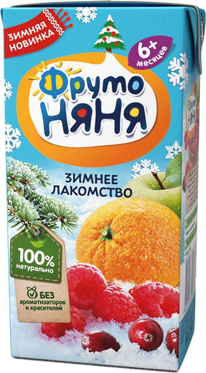 Нектар ФрутоНяня из яблок, апельсинов, клюквы и малины с 6 месяцев, 0,2 л