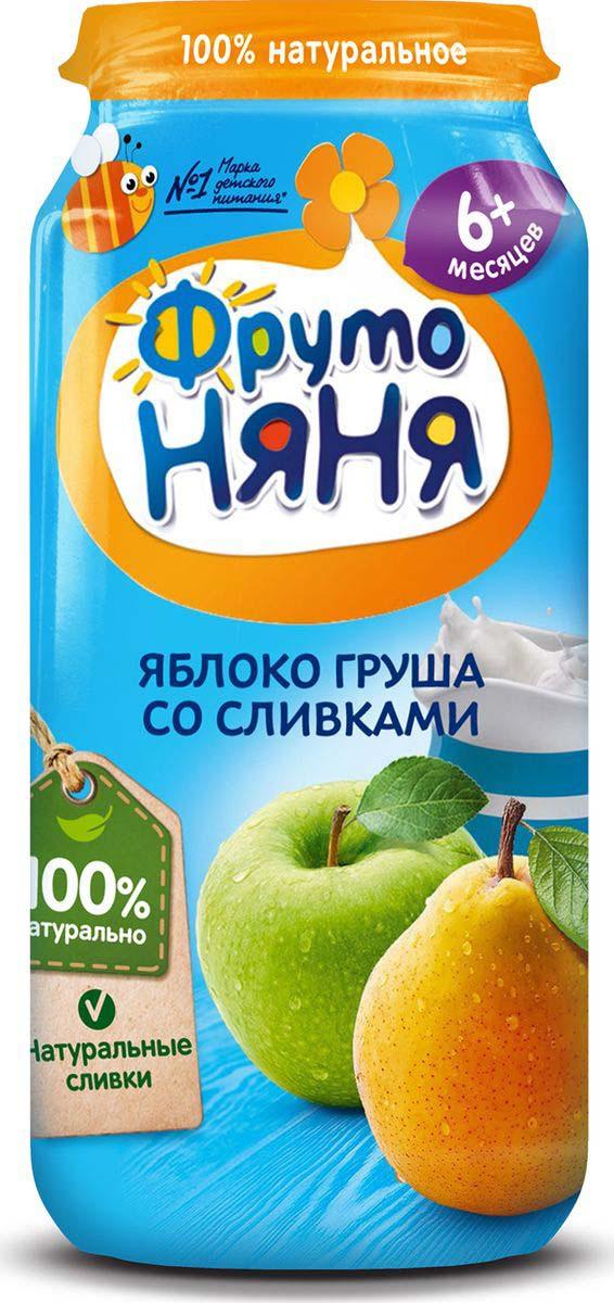 ФрутоНяня пюре из яблок и груш со сливками с 6 месяцев, 250 г