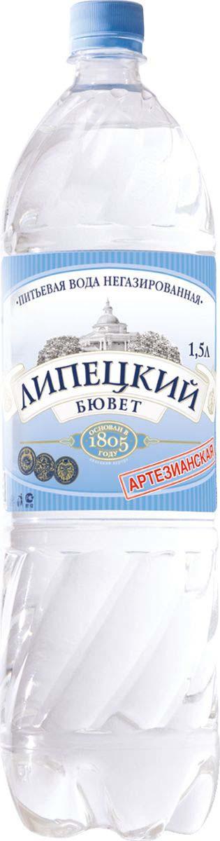 Липецкий Бюветводаартезианская питьевая негазированная, 1,5 л