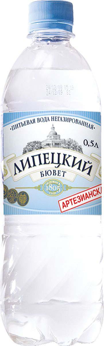 Липецкий Бюветводаартезианская питьевая негазированная, 0,5 л