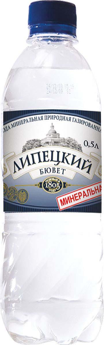 Липецкий Бюветводалечебно-столовая питьевая газированная, 0,5 л