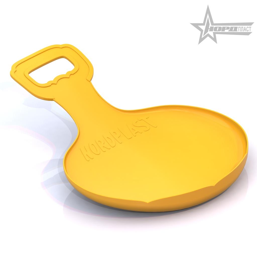 Ледянка детская Нордпласт, желтый, 031, 35,5 x 29,5 x 1 см