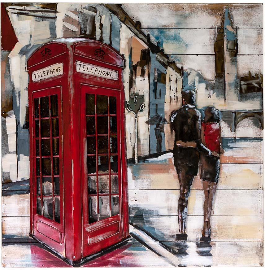 Картина Miralight Телефонная будка, L18B66, 80 х 80 см сувенир шкатулка телефонная будка 11 8 4см металлическая 12 07285 km 8