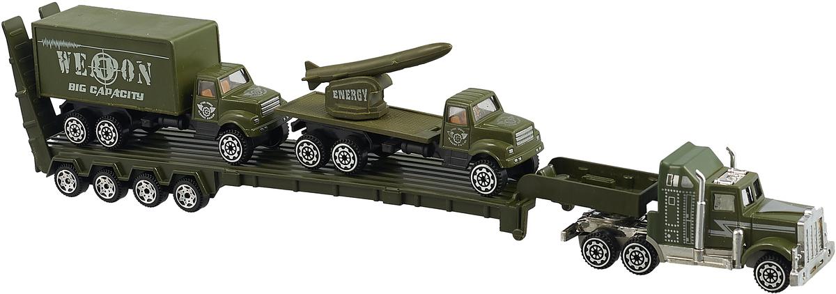 Zhorya Игровой набор Автомаркет Автовоз с грузовиком и зениткой