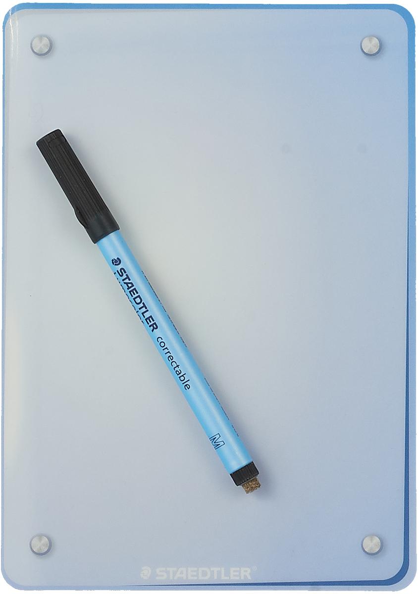 Staedtler Доска магнитно-маркерная самоклеящая 21 х 14,8 см + маркер + держатель