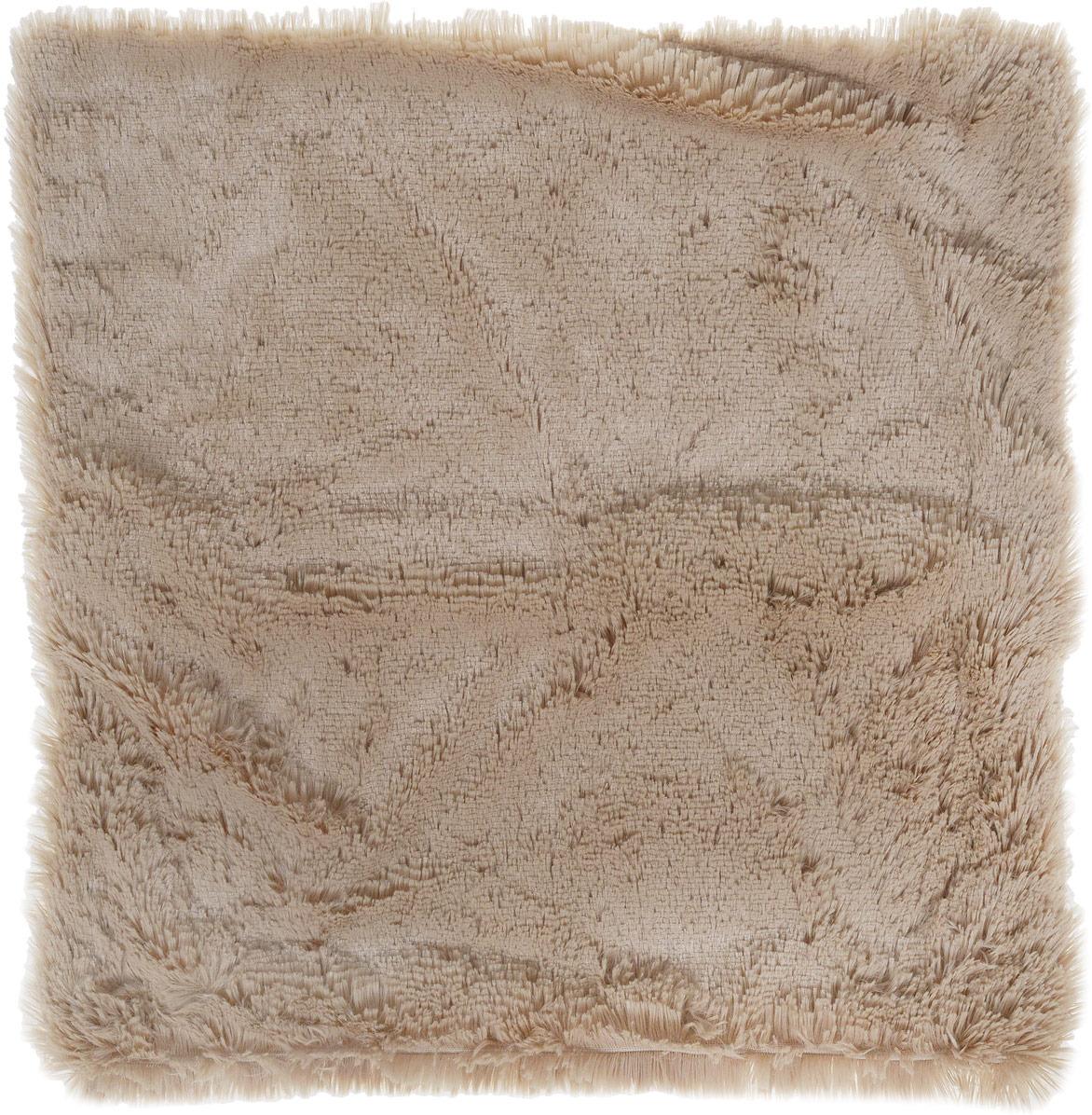 """Наволочка декоративная Buenas Noches """"Длинный ворс"""", цвет: серый, 48 x 48 см"""