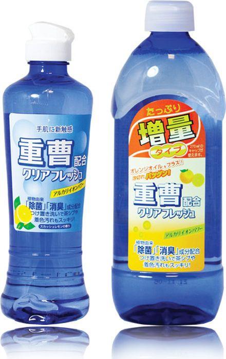 Средство для мытья посуды и кухонных принадлежностей Sankyo Yushi Clear Fresh, 357456, концентрированное, с апельсиновым маслом, 450 мл