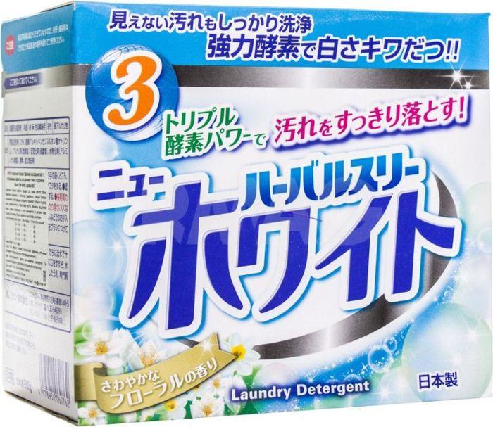 Стиральный порошок Mitsuei Herbal Three, 060762, с дезодорирующими компонентами, отбеливателем и ферментами, 850 г