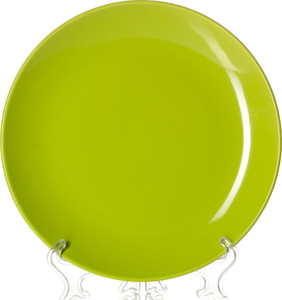 Тарелка Gotoff, 8221D, зеленый, диаметр 25,5 см тарелка глубокая gotoff цвет фисташковый диаметр 18 5 см