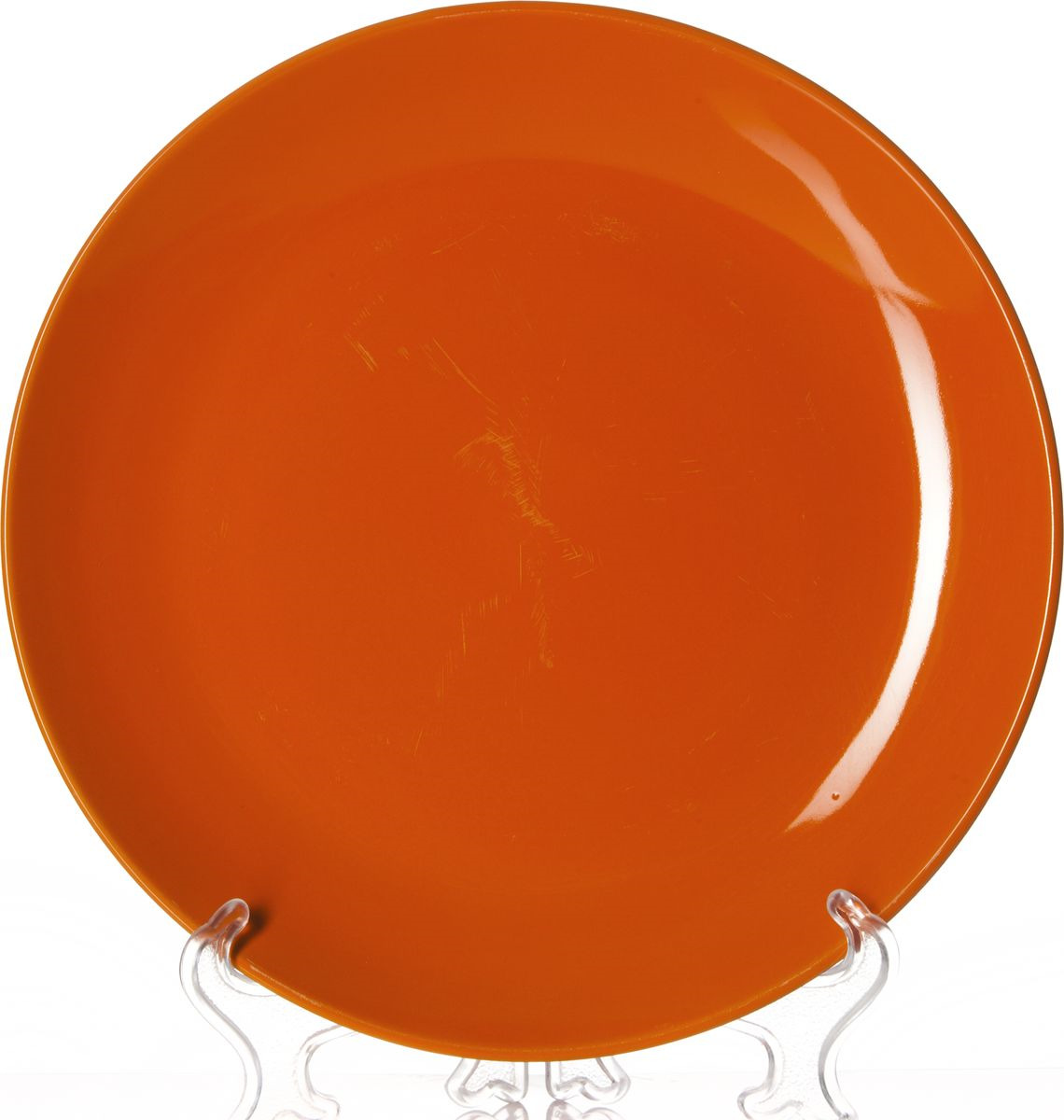 Тарелка Gotoff, 8221B, оранжевый, диаметр 25,5 см тарелка глубокая gotoff цвет фисташковый диаметр 18 5 см