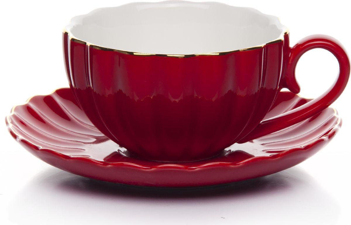 Набор чайный, на 2 персоны, C622AS622A-L1-YG01/2, красный, 4 предмета недорого
