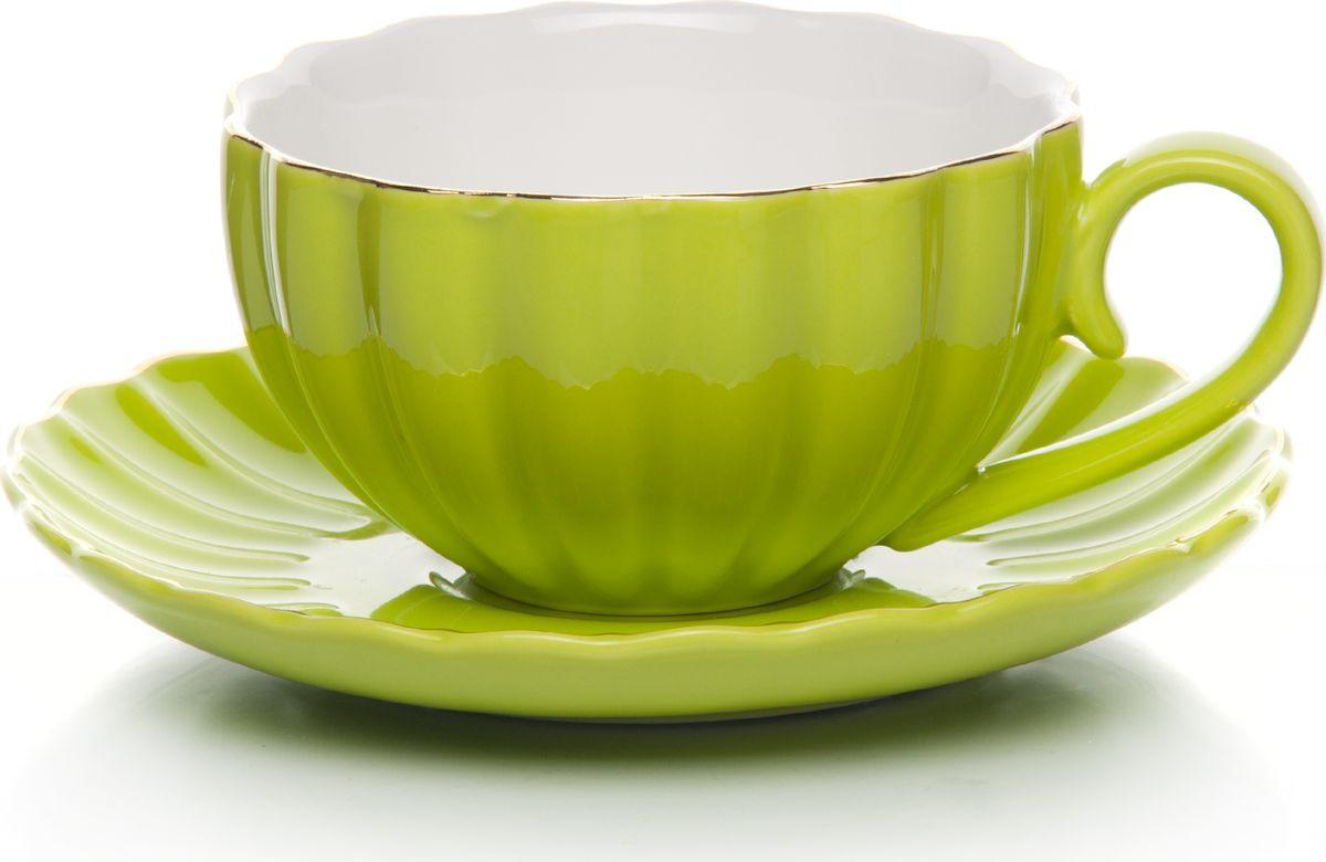 Набор чайный, на 2 персоны, C622AS622A-L5-YG01/2, салатовый, 4 предмета набор чайный на 2 персоны c622as622a l6 yg01 2 розовый 4 предмета