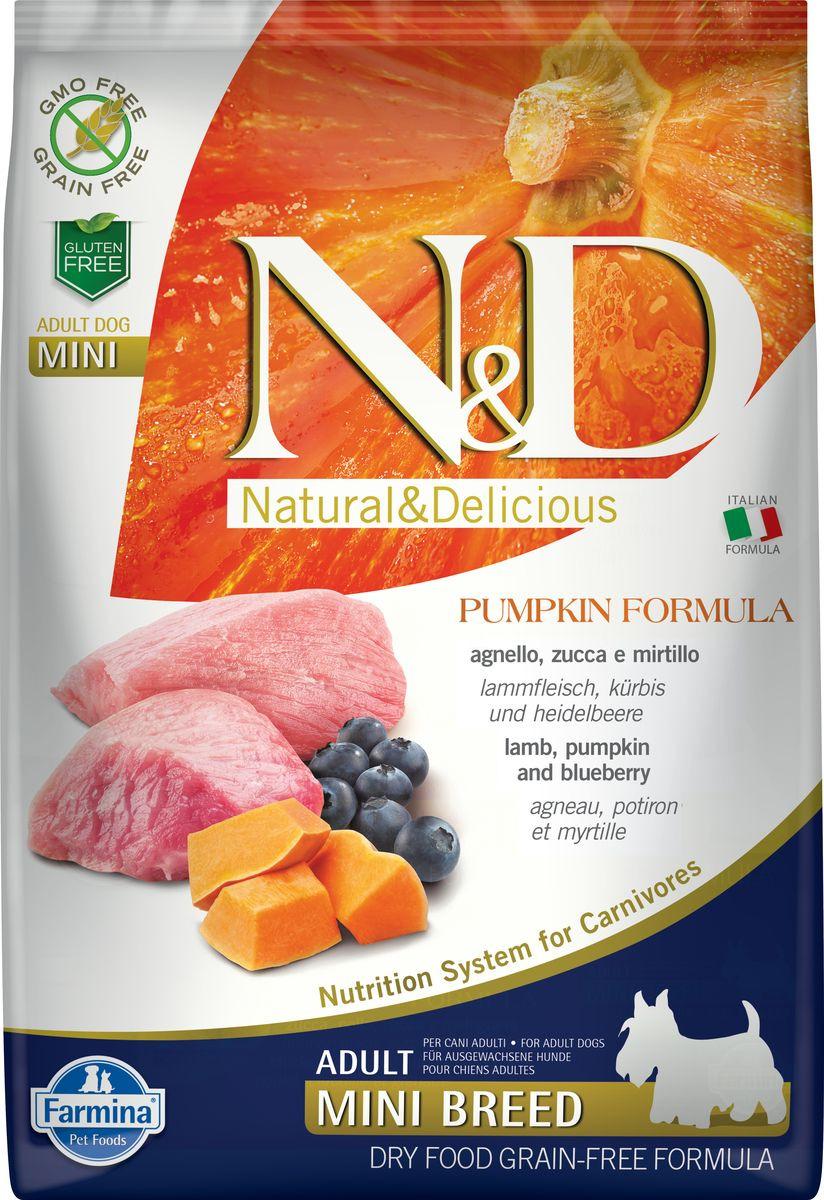 Корм сухой Farmina N&D Dog, для собак мелких пород, беззерновой, с ягненком и черникой, 7 кг