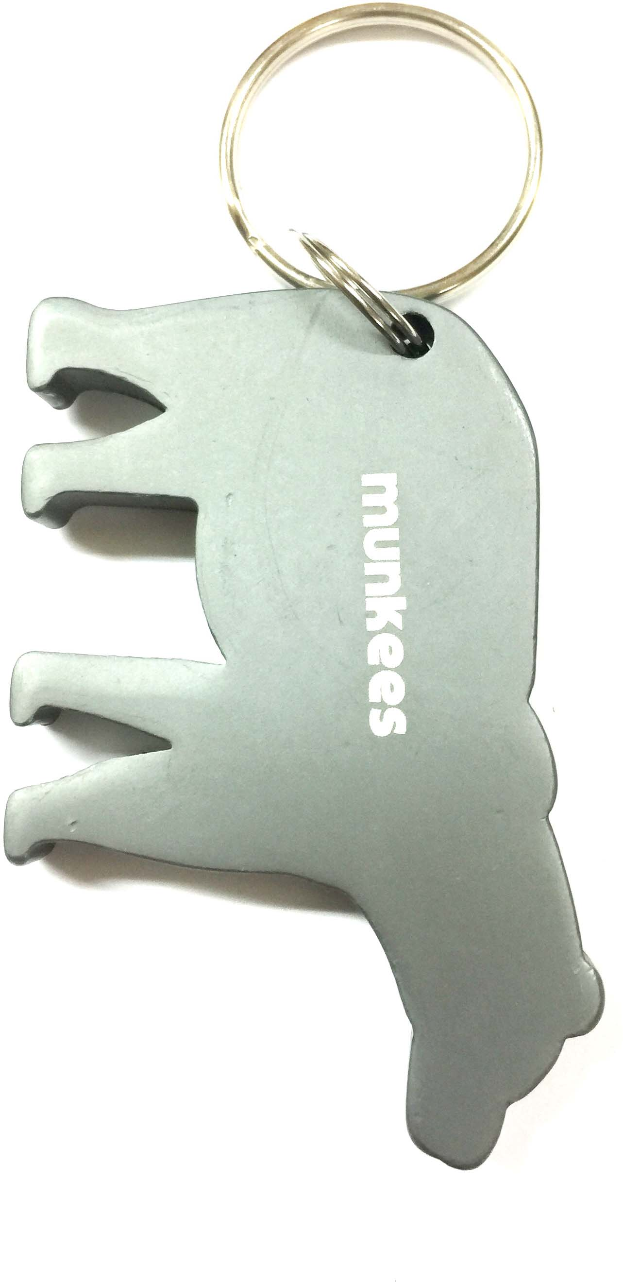Брелок-открывалка Munkees Медведь, цвет: серый брелок открывалка munkees стандартная цвет желтый
