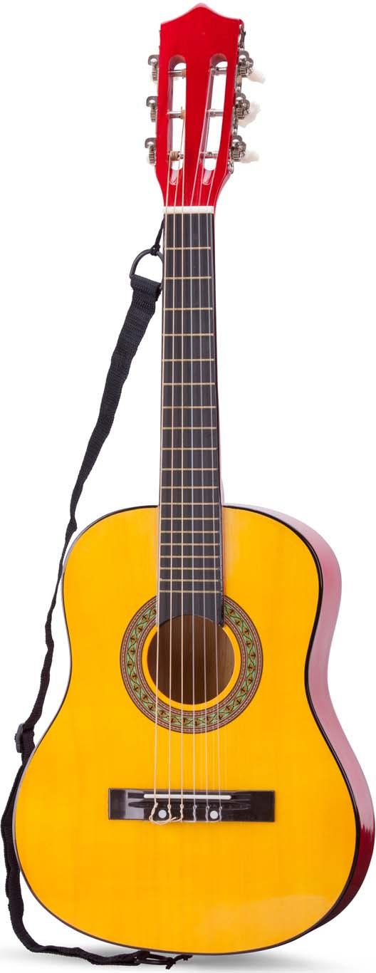 Музыкальная игрушка Гитара с чехлом гитара классическая деревянная 76см