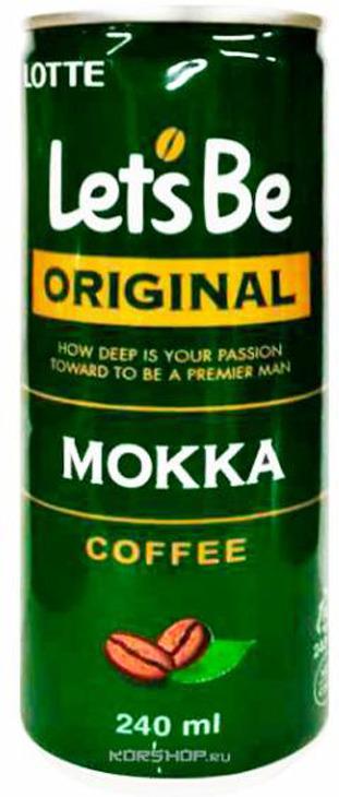Безалкогольный негазированный кофейный напиток Lotte Let's Be Mokka, 240 мл lotte aloe vera напиток безалкогольный негазированный с мякотью алоэ оригинальный 500 мл