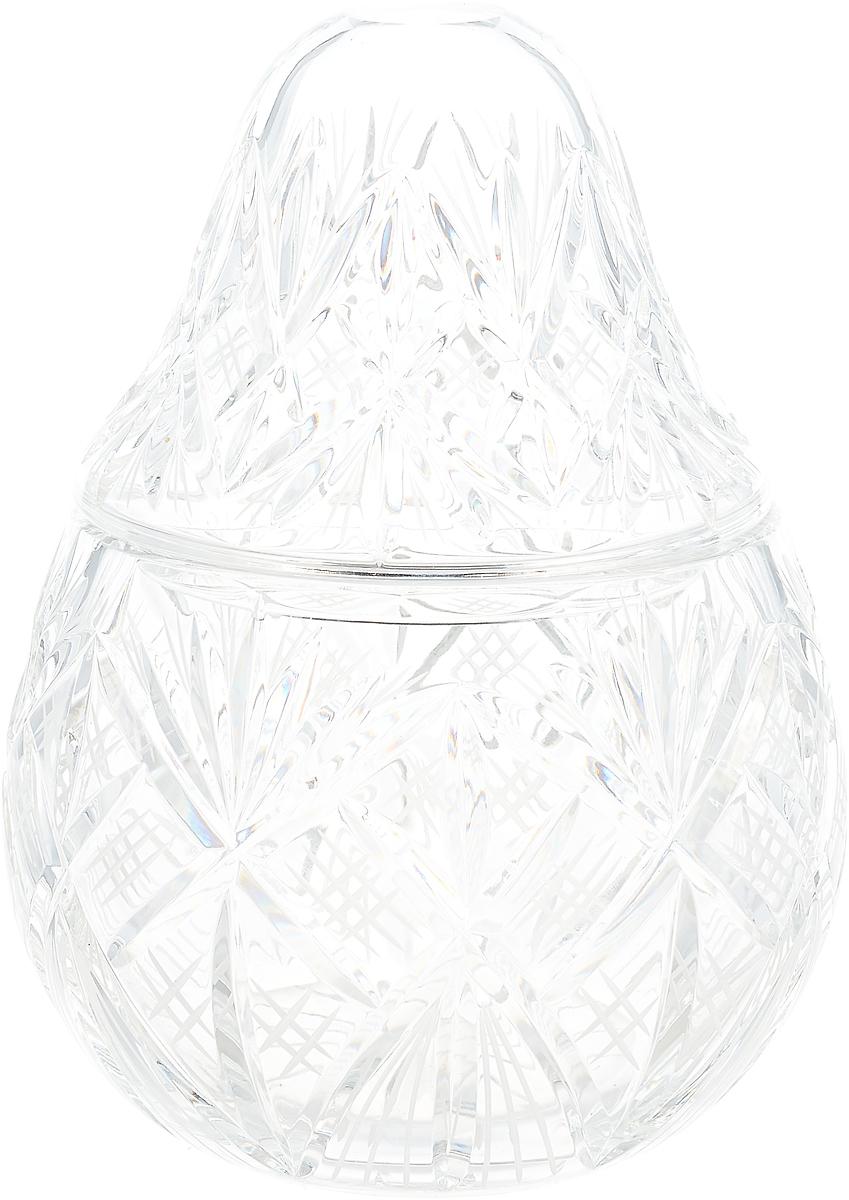 Конфетница Bohemia Crystal, 33520, с крышкой, на ножках, высота 26 см