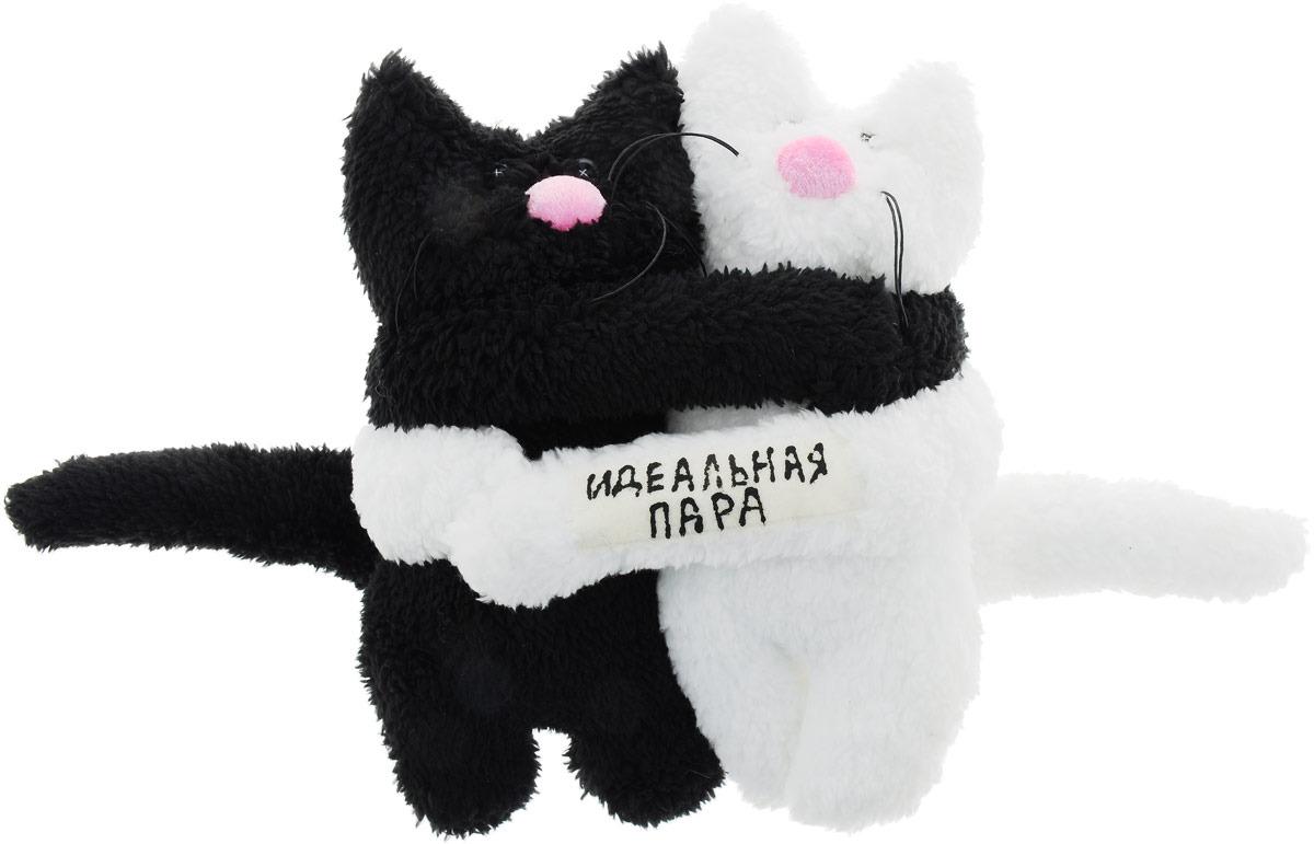 Мягкая игрушка Бюро находок Идеальная пара. Коты, AIG105, черный, белый рюмка бюро находок за родину цвет белый