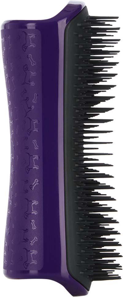 Расческа для вычесывания шерсти Pet Teezer De-shedding & Dog Grooming Brush Purple & Grey, фиолетовый, темно-серый
