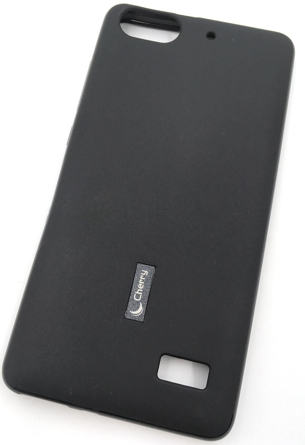 цены Чехол для сотового телефона Cherry Huawei Honor 4C Накладка резиновая с пленкой на экран, черный