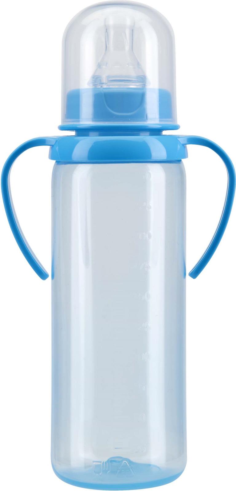 Бутылочка для кормления Курносики, с ручками, с соской, 11133, 250 мл курносики бутылочка п пропил с силик соской и ручками 125мл