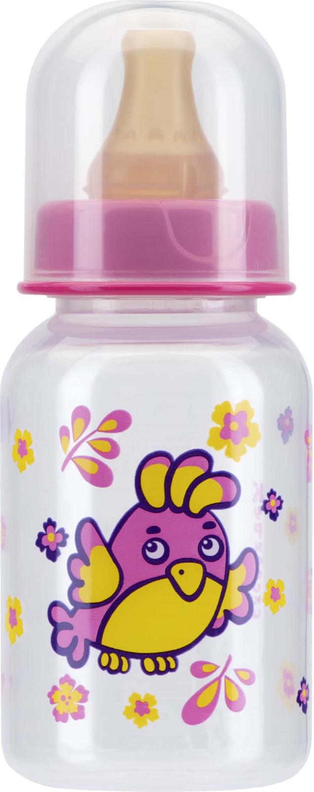 Бутылочка для кормления Курносики Мои любимые птички, с соской, 11144, 125 мл avent бутылочка для кормления 125 мл