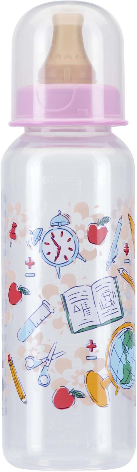 Бутылочка для кормления Курносики, с соской, 11145, 250 мл, цвет в ассортименте столовые приборы для малышей курносики ложечка курносики