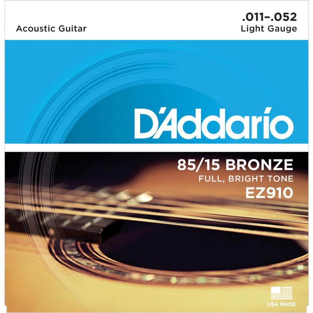 Струны для акустической гитары D'ADDARIO EZ910, dyDNT-12745, золотой