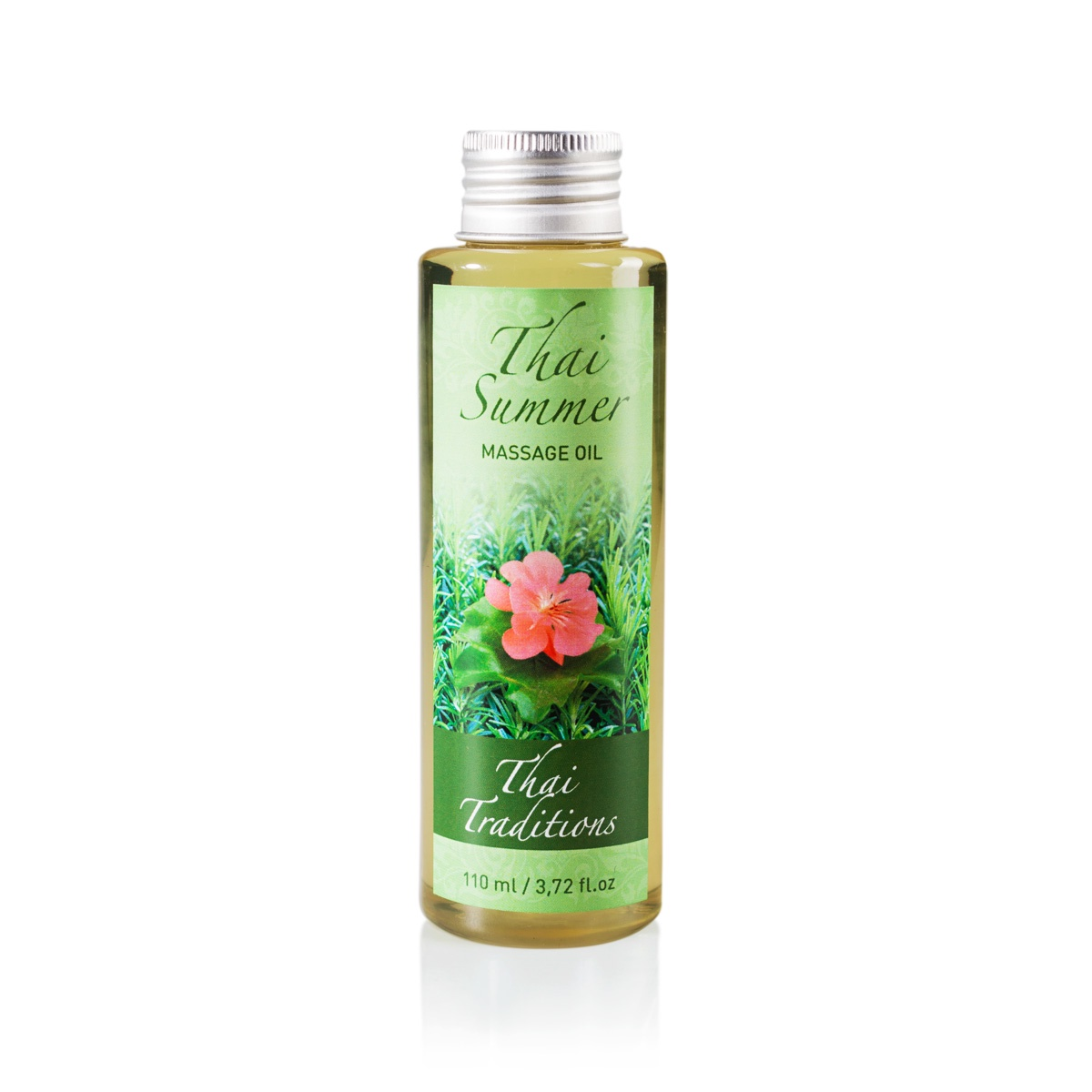 Масло массажное Thai Traditions Тайское лето, 110 млPB-OM-034-00110Нежное массажное масло обволакивает тропическим ароматом и одновременно бережно ухаживает за кожей: увлажняет, смягчает, питает и замедляет процессы старения. Причудливая смесь цвета, запаха, солнца и цветов - вот, что такое тайское лето. Ярким, чувственным ароматом композиции из эфирных масел Тайское Лето перенесет в самые тропики, на обласканный теплым бризом берег моря. Жирные кислоты и витамины из рисового и миндального масел - главные агенты, которые отвечают за активизацию процессов регенерации кожи, - обеспечивают питание и увлажнение кожи на всех слоях. Эфирные масла отвечают за трепетный, чарующий аромат, а также способствуют глубокой очистке кожи и снимают раздражение, разглаживают и омолаживают кожу, улучшают тонус, осветляют и освежают тон кожи. Способ применения: нанесите масло на кожу и массируйте круговыми движениями.