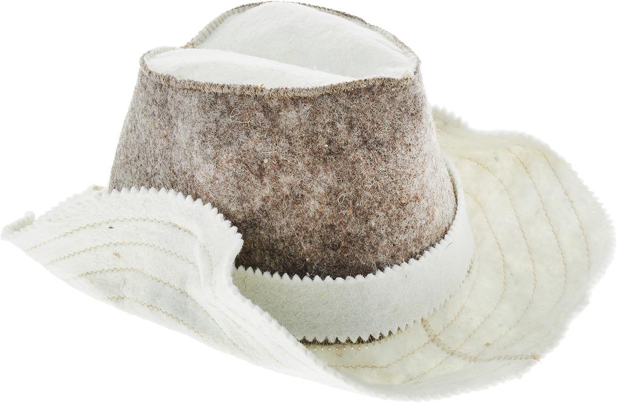 Шапка для бани и сауны Ecology Sauna Ковбой, ДЮН-К145, бежевый, коричневый шапка ушанка для бани и сауны ecology sauna снегом да паром