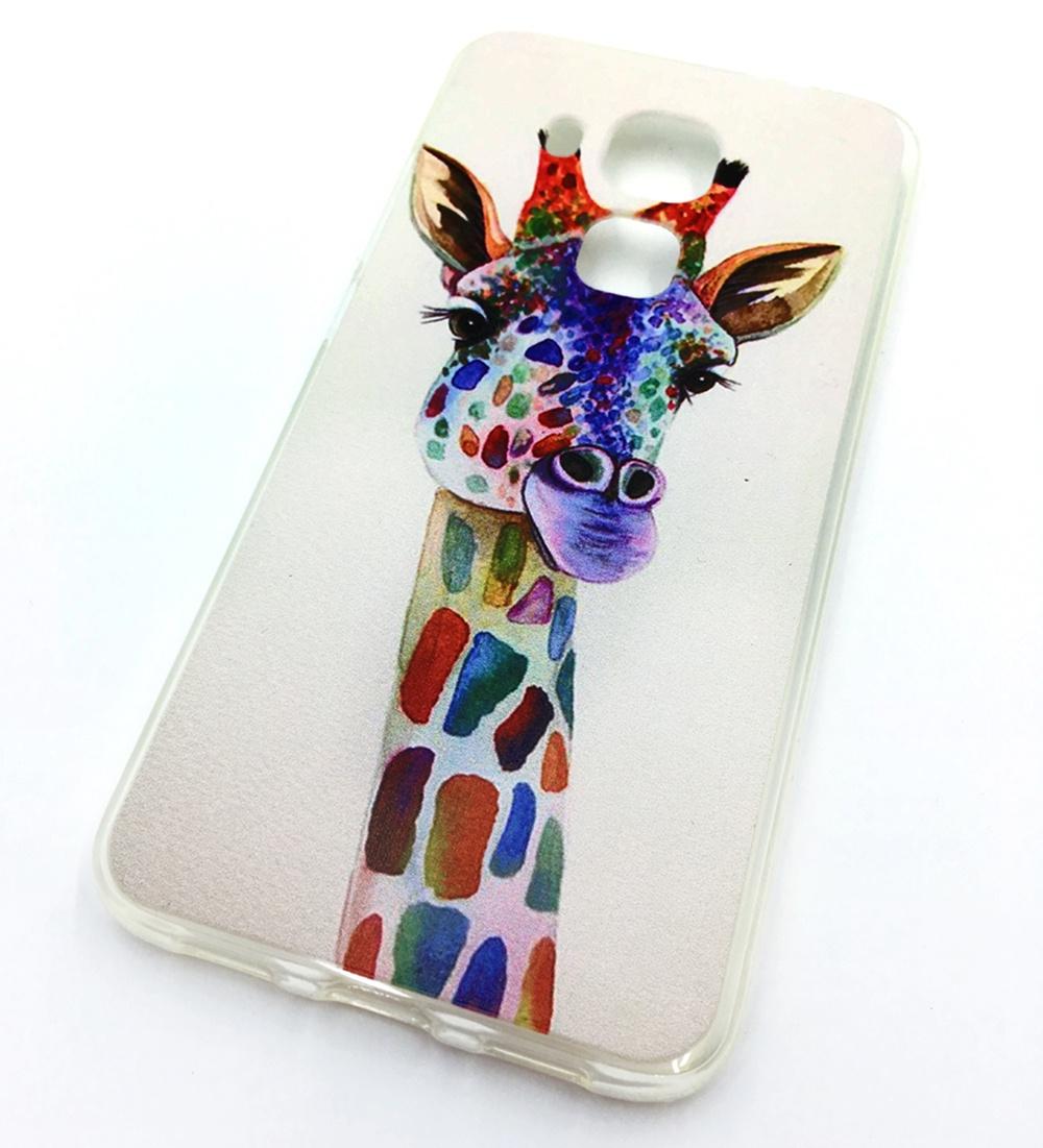 Чехол для сотового телефона Мобильная мода Huawei Nova Plus (Huawei G9 Plus) Накладка силиконовая с рисунком, жираф, 7 135A цена и фото