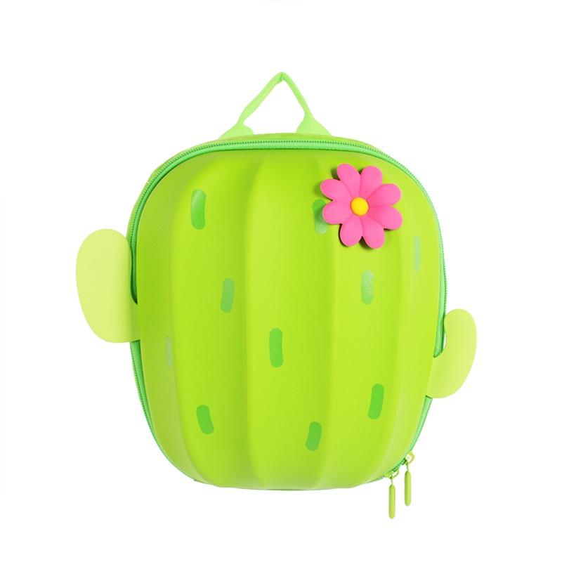 Ранец SUPERCUTE Детский рюкзак Кактус, цвет: зеленый