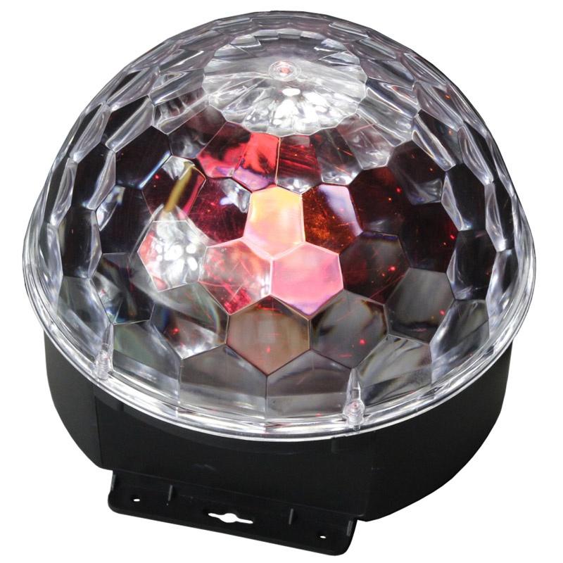 Многолучевой световой прибор Led Star Disco Ball, maУТ000000358, черный, прозрачный