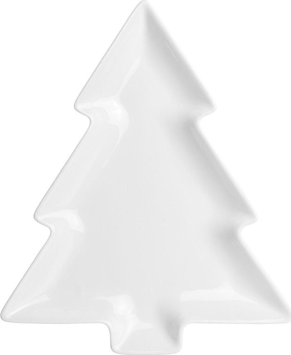 Блюдо Elan Gallery Елочка, цвет: белый, 28,5 х 23,5 х 2,5 см860055Блюдо для сервировки серии Елочка выполнено из высококачественного белого фарфора в форме елки. Блюдо отлично впишется в праздничную сервировку стола и подходит для подачи закусок, нарезки, фруктов и любых других закусок. Блюдо можно мыть в посудомоечной машине.