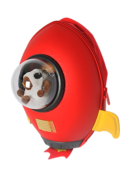 """Ранец SUPERCUTE """"Детский рюкзак Ракета"""", цвет: красный"""