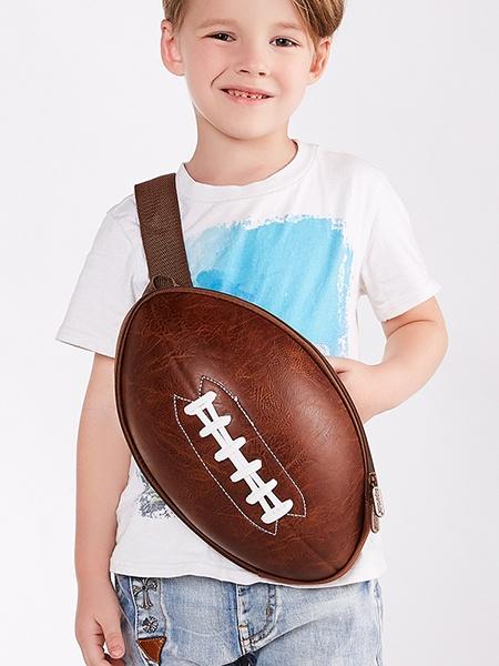 Ранец SUPERCUTE Детский рюкзак Американский футбольный мяч, цвет: коричневый