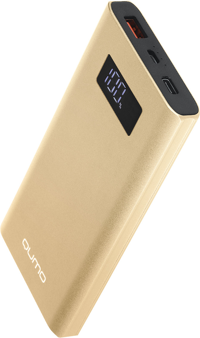 Фото - Внешний аккумулятор Qumo PowerAid, P10000 V2 QC/PD, 10000 мАч, золотой аккумулятор