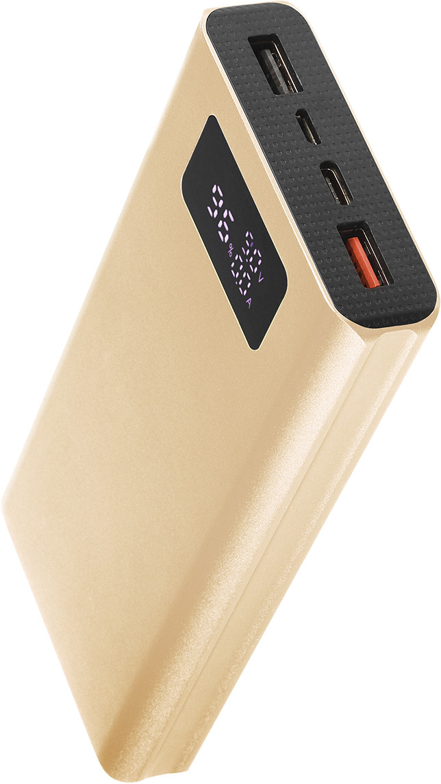 Внешний аккумулятор Qumo PowerAid, T20000 QC/PD, 20000 мАч, золотой цена и фото
