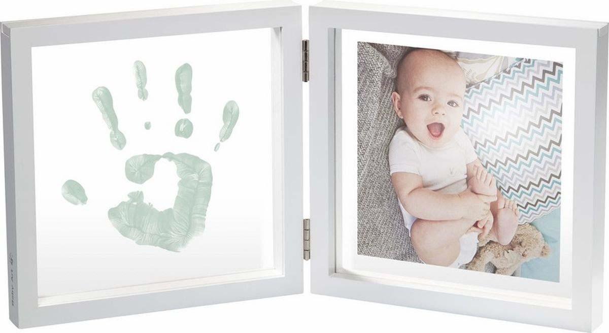 Baby Art Рамочка двойная прозрачная Baby Style с отпечатком краской, белый