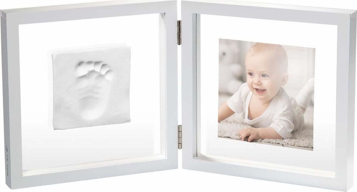 Baby Art Рамочка двойная прозрачная Baby Style с отпечатком, белый