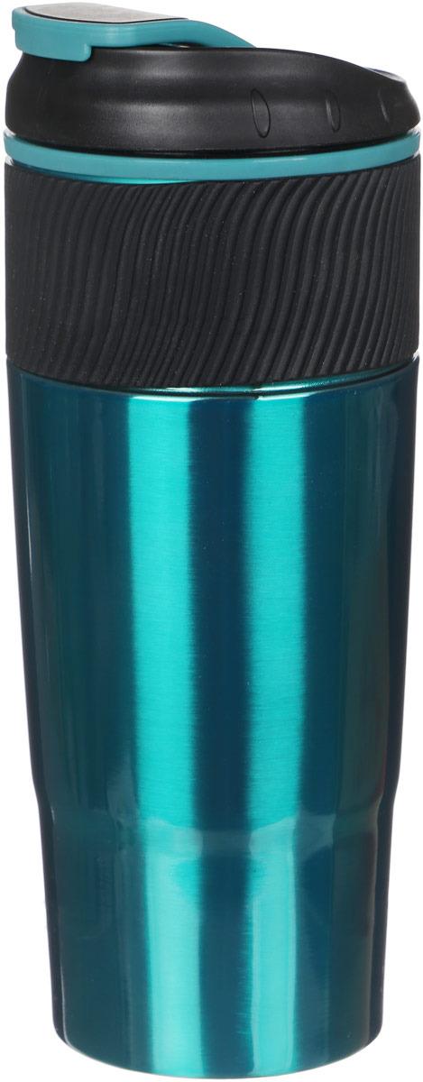 Термокружка Bekker Brightness, цвет: зеленый, 0,45 л. BK-4352