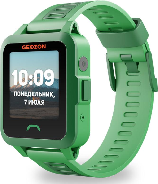 Умные часы детские Geozon Active, зеленый умные часы детские geozon aqua синий