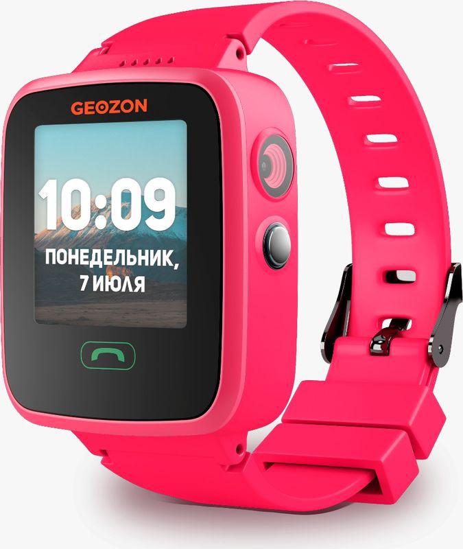 Умные часы детские Geozon Aqua, розовый умные часы детские geozon aqua синий